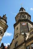 Dresden Triangulationssäule Schlossturm Stock Photo