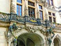 Dresden Tyskland - December 31, 2017: Den Zwinger slotten, Dresden, Sachsen, Tyskland, Europa Royaltyfri Foto