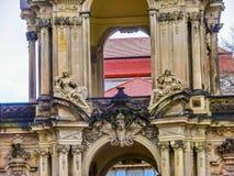 Dresden Tyskland - December 31, 2017: Den Zwinger slotten, Dresden, Sachsen, Tyskland, Europa Royaltyfri Fotografi