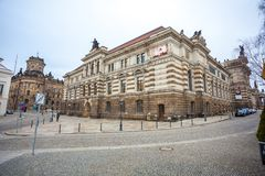22 01 2018 Dresden, Tyskland - gamla härliga hus i Dresden, S Royaltyfria Foton