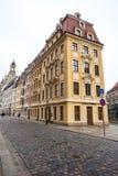 22 01 2018 Dresden, Tyskland - gamla härliga hus i Dresden, S Royaltyfri Fotografi