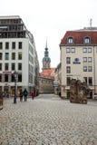 22 01 2018 Dresden, Tyskland - gamla härliga hus i Dresden, S Royaltyfria Bilder