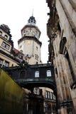DRESDEN TYSKLAND - MAJ 10: Sikt av den historiska mitten (altstadt) av den Sachsen staden Arkivbild