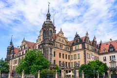 DRESDEN TYSKLAND - MAJ 2017: Dresden slott eller Royal Palace Dre royaltyfri bild