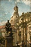 Dresden urban scenics - Vintage Stock Image
