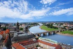 Dresden-Vogelperspektive von Frauenkirche stockfoto