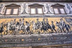 Dresden-Wandbild: Das Fuerstenzug lizenzfreies stockbild