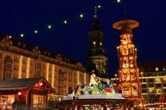 Dresden-Weihnachtsmarkt lizenzfreie stockfotografie