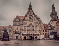 Dresden at winter cloudy day Royalty Free Stock Image