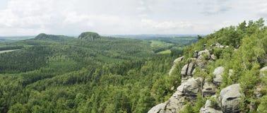 dresden zielonej panoramy skalisty scenerii widok obraz royalty free