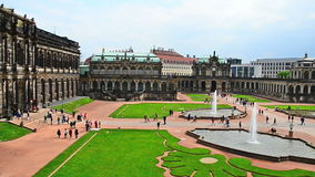 Dresden Zwinger - the famous historic building in the city in Germany stock video footage