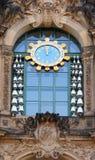 Dresden Zwinger klocka Royaltyfri Fotografi