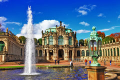 Dresden Zwinger museum arkivbild