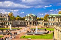Dresden, Zwinger-museum Stock Afbeeldingen