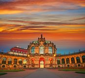 Dresden Zwinger in Saxony Germany Royalty Free Stock Images