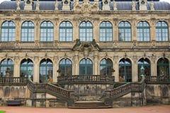 Dresden Zwinger slotttrappa och fasad Royaltyfria Bilder