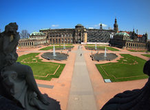 Dresden, Zwinger wide angle view Royalty Free Stock Image