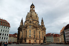 The Dresdner Frauenkirche (Church of Our Lady) Royalty Free Stock Photo