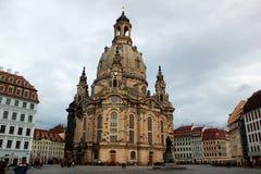 Dresdner Frauenkirche (kościół Nasz dama) Zdjęcie Royalty Free