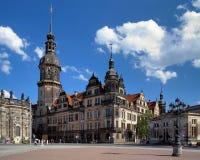 Dresdner Residenzschloss (castelo de Dresden) fotografia de stock royalty free