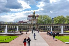 Dresdner Zwinger courtyard, Dresden. Germany stock photography