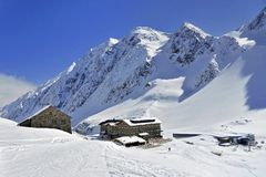 Dresdnerhutte in Stubai Royalty Free Stock Photos