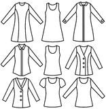 Dress. Set of the woman's wear. Vector illustration Stock Image