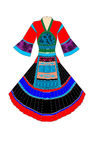 Dress. A set minority dress of China, work on photoshop Royalty Free Stock Photos