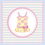 Dress for baby girl. Background with  dress for baby girl Royalty Free Stock Photography