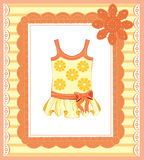 Dress for baby girl. Background with  dress for baby girl Stock Images