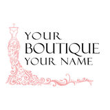 Dress Boutique Illustration Vector Logo. Design Royalty Free Stock Photography