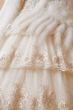 Dress of the bride. Royalty Free Stock Photo