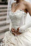 Dress of a bride Royalty Free Stock Photography