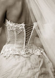 Dress of a bride Royalty Free Stock Images
