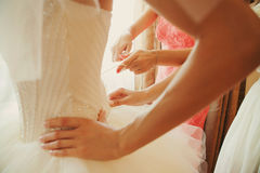 Dress for the bride Royalty Free Stock Photography