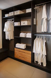 Dress closet. In bed room royalty free stock photos