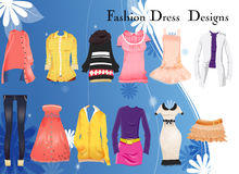 Dress coat designs Royalty Free Stock Photography