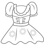 Dress coloring page. Useful as coloring book for kids Stock Images