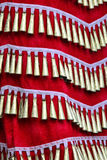 Dress details. From Native american dancers at a Powwow Royalty Free Stock Photography