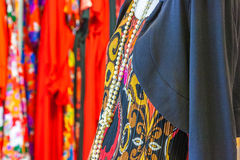 Dress on display. Small local fashion shop in Dewonport, Auckland, New Zealand Stock Photos