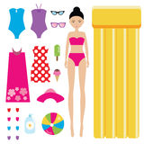 Dress the doll children game Stock Photography