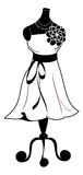 Dress on Dressmaker's dummy Royalty Free Stock Images