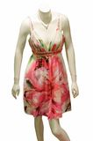 Dress with flora designs Royalty Free Stock Photography