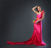 Dress  with flowers Royalty Free Stock Photo