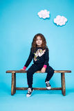 Dress girl clothing small collection cute Royalty Free Stock Photos