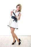 dress girl smiling white Στοκ φωτογραφίες με δικαίωμα ελεύθερης χρήσης