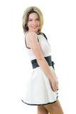 dress girl smiling white Στοκ Εικόνες