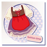 Dress for girls Royalty Free Stock Image