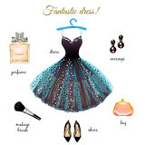 Dress hand drawn illustration Royalty Free Stock Photo