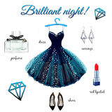 Dress hand drawn illustration Royalty Free Stock Images